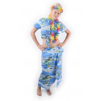 Festivalshop - Hawaii Set blauw Dames - PX05781