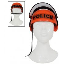 Festivalshop - Casque police enfant fluo orange - 51/51222