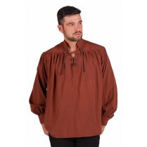 Festivalshop - Pirate shirt or Middle Ages linen brown - THT31631300