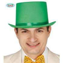 Festivalshop - Top hat green luxury satin - FG13402G