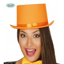 Festivalshop - Top hat orange satin de luxe - FG13399