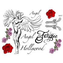 Festivalshop - Hollywood engel tattoos - TAT0223