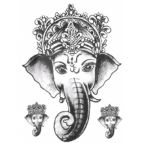 Festivalshop - Holy Lord Ganesh Tattoo - TAT0198