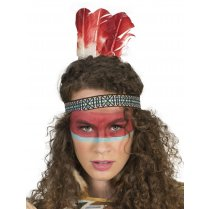 Festivalshop - Headband native american with feathers - 50/50106