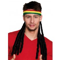 Festivalshop - Headband rasta with dreadlocks - BO82006