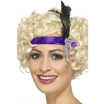 Festivalshop - Headband satin purple Charleston - SM48071