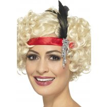 Festivalshop - Headband satin red Charleston - SM48069