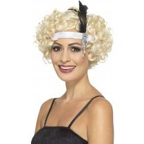 Festivalshop - Headband satin white Charleston - SM48070