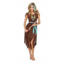 Festivalshop - Indian lady pocahontas brown luxury - WI4820