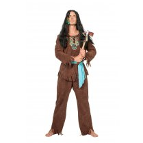 Festivalshop - Indian man brown turquoise - WI5820