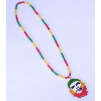 Festivalshop - Necklace rasta colors with Che Guevara - MO50913C