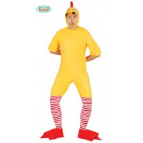 Festivalshop - Chicken yellow jumpsuit thin with hood - FG84716