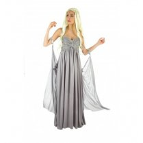 Festivalshop - Kleed grijs lang dragon queen - CHH4166
