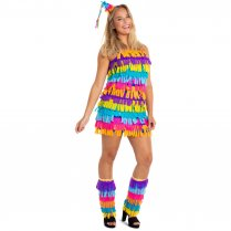 Festivalshop - Dress short pinata colored ladies - FO64660