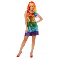 Festivalshop - Dress with sequins in rainbow color - SM51001