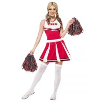 Festivalshop - Dress Cheerleader mit Pompons - SM40065