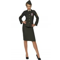 Festivalshop - Kostuum Wartime Officer Dame - SM35335