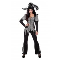 Festivalshop - Costume Zombie Witch Black - WI4173