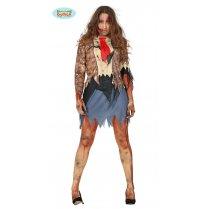 bcf00e8edcbd3b Festivalshop - Kostuum dame zombie met blauwe rok - FG88354