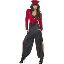 Festivalshop - Costume pop starlet red / black - SM20686