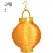 Festivalshop - Tissu Ballion Lampion LED orange 15cm - WD02471