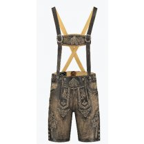 Festivalshop - Lederhosen short brown vintage look - HH5040