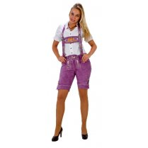 Festivalshop - Lederhosen purple short ladies - HH3010