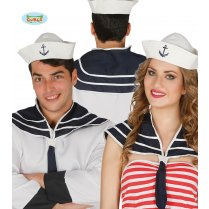 Festivalshop - Navy sailor set of collar and hat - FG18584