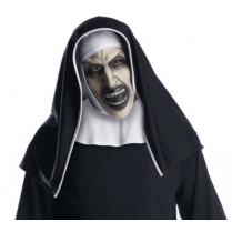 Festivalshop - Masker latex The Nun met kap conjuring - 94/94193