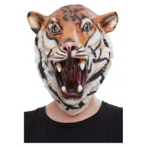 Festivalshop - Masker latex tijger jungle - SM50884