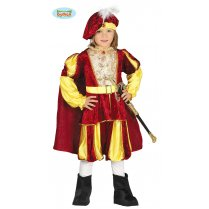 Festivalshop - Medieval prince child red yellow - FG87557