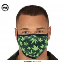 Festivalshop - Reusable cannabis leaf mouth mask - FG12503