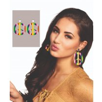 Festivalshop - Earrings happiness with peace sign - BO64502
