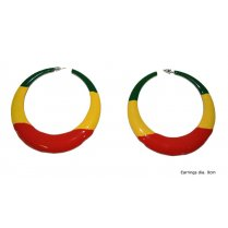 Festivalshop - Earrings ring red yellow green - 53/53727
