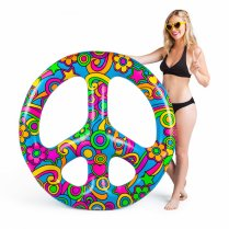 Festivalshop - Opblaasbaar Peace Teken Pool Float - BMPFPCS