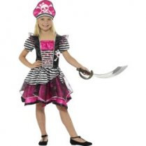 Festivalshop - Perfect Pirate Girl Costume Black/Pink - SM21981