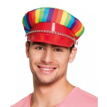 Festivalshop - Cap rainbow rocker with chain - BO44724
