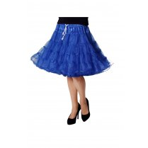 Festivalshop - Petticoat Luxe Half Lang Blauw one size - WI4391D