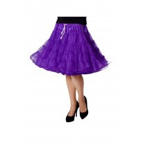 Festivalshop - Petticoat Luxe Half Lang Paars one size - WI4391G