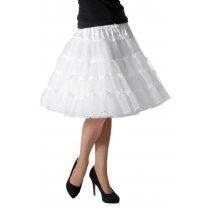 Festivalshop - Petticoat Luxe Half Lang Wit one size - WI4391B