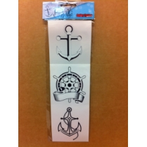 Festivalshop - Sticker tattoo anchor 3 pieces - PX14452