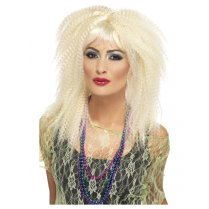 Festivalshop - Pruik 80′s blond crimp - SM23160