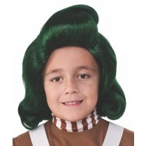 Festivalshop - Pruik Oompa Loompa Willy Wonka kind - RE32988