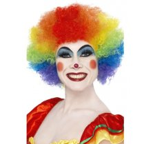 Festivalshop - Crazy clown rainbow wig - SM42088