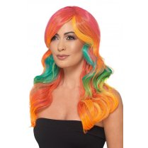 Festivalshop - Fashion Rainbow Wig - SM48911