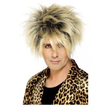 Festivalshop - Pruik wild boy blond met highlights - SM42299