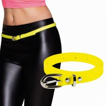 Festivalshop - Belt narrow neon yellow eighties - BO01981