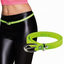 Festivalshop - Belt narrow neon green eighties - BO01982