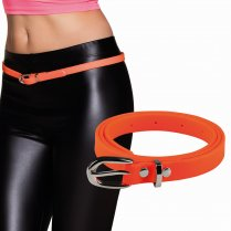 Festivalshop - Belt narrow neon orange eighties - BO01984