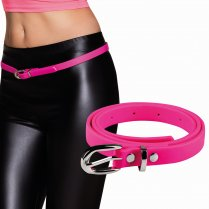 Festivalshop - Belt narrow neon pink eighties - BO01983